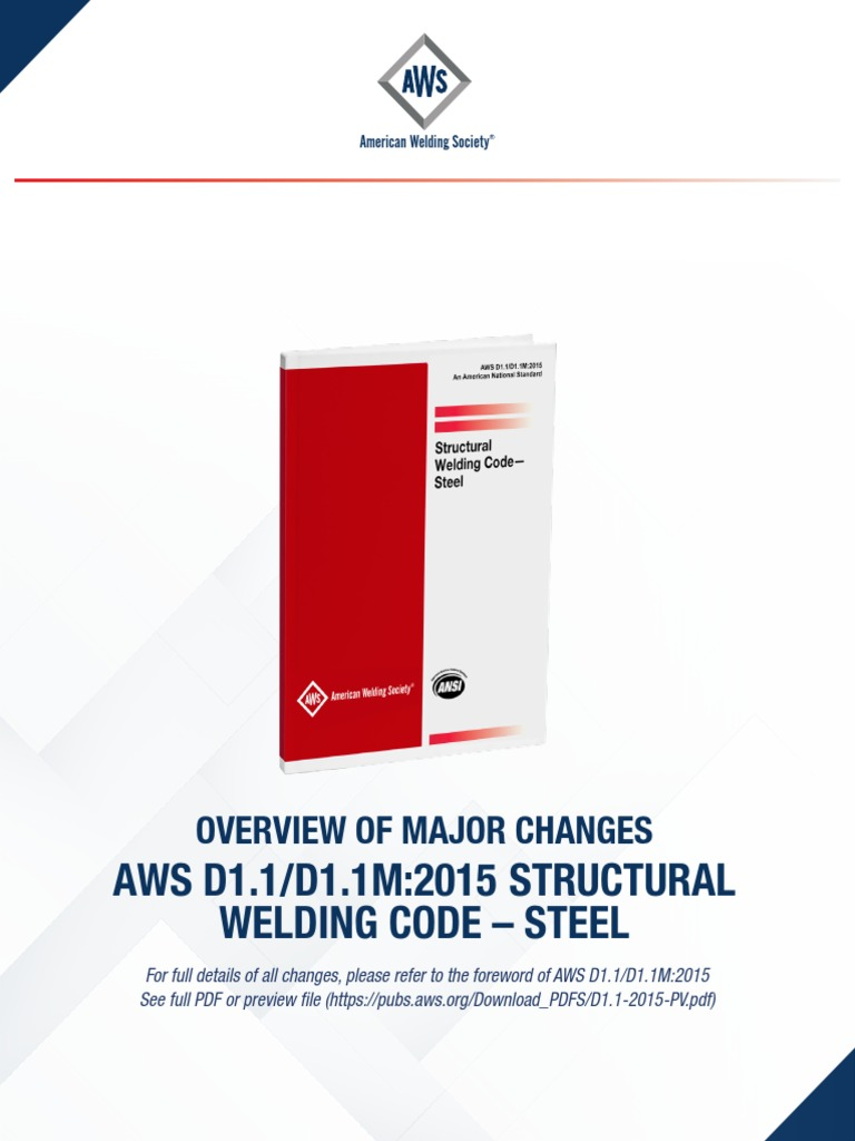 Principales Cambios Aws D1 1 2015 Welding Joining