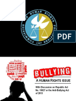 Bullying, A Human Rights Issue With RA10627