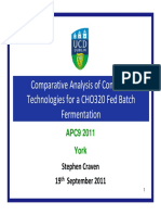 Mon 10.00 Comparison of Controller Technologies for Fed Batch Fermentation S Craven