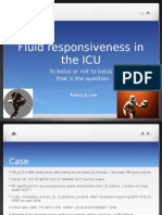 Volume/Fluid Responsiveness in the ICU