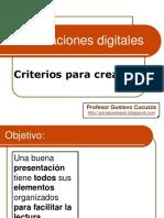 Criterios Para Presentaciones en Ppt