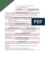 Fichas de Proceso Suministros