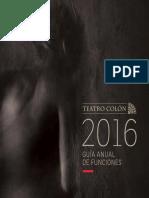 Teatro Colón - Guía Anual de Funciones 2016