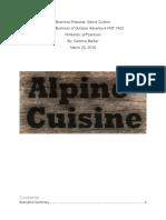 boda - alpine cuisine - final project