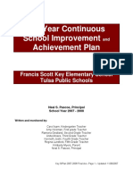 A 3-Year Continuous School Improvement n Achievement Plan