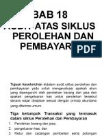 Bab 18 - Audit Siklus Perolehan& PBayaran