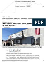 hate attacks on muslims in u s