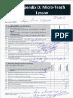 micro-teach report