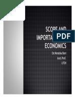 2)Scope and Importance of Economics
