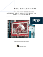 Conserving Historic Signs on Buildings