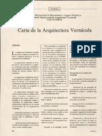 Carta de Arquitectura Vernacula