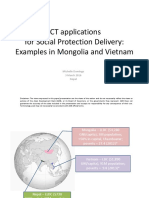 Presentation on ADB ICT for Social Protection findings on Mongolia and Viet Nam