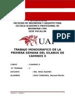 TRABAJO MONOGRAFICO EL CAMINOS