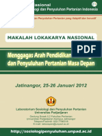 Pendidikan Sosiologi Dan Pertanian