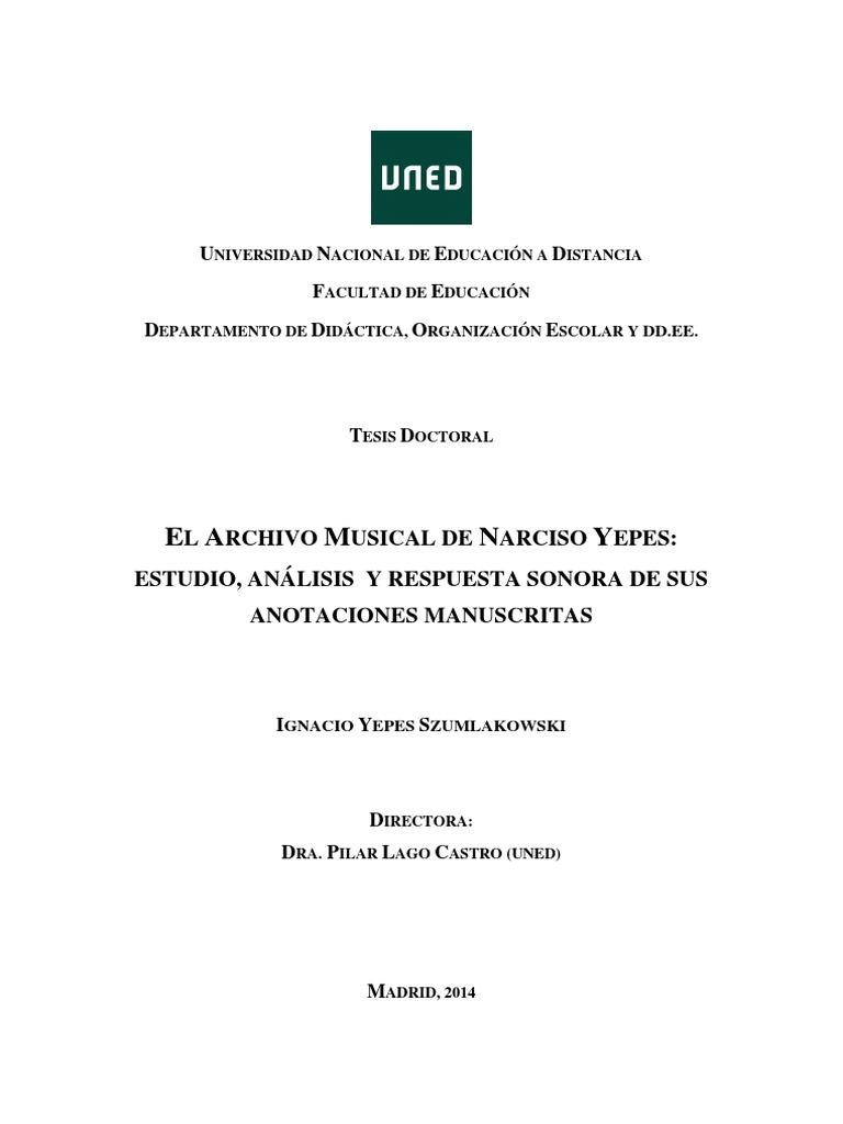 Tesis - Archivo Narciso Yepes