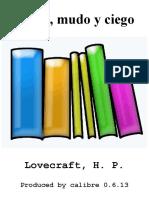 Sordo, Mudo y Ciego - Lovecraft_ H. P