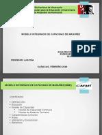 Integración de modelos de madurez de capacidades(CMMI) Presentación