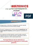 Metagenomicsnewer approach in understanding Microbes