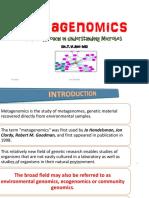 Metagenomicsnewer approach in understanding Microbes