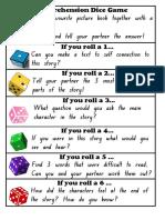 Reading Comprehension Dice Game Grades k
