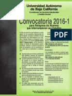 Convocatoria de reingreso UABC 2016-1
