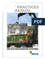 Precast Concrete on Site Wastewater Tank Best Practices Manual