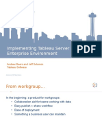 Tableau Server in the Enterprise