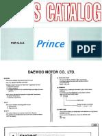 Despiece Daewoo Prince Ingles