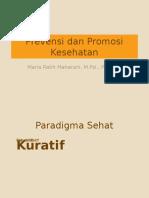 Prevensi Dan Promosi Kesehatan