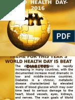 WORLD HEALTH DAY- 2016.pptx