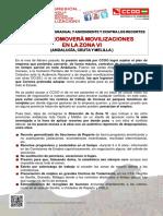 2222100-Comunicado CCOO Promoverá Movilizaciones en La Zona VI