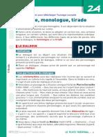 Fiche Defibac Dialogue Monologue Tirade