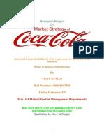 Market Strategy of Coca Cola Vijay Monga