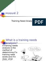 MODULE 2 Training Need Analysis