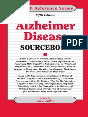 Amy L  Sutton Alzheimer Disease Sourcebook, 5th Edition 2011