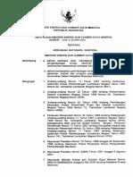 Kepmen-1128-2004 Kebijakan Batubara Nasional