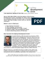 Sydney Development Circle Newsletter Feb
