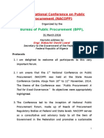 Second National Conference on Public Procurement-Keynote Address for SGF