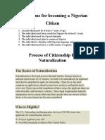 Process of Citizenship by Naturalization