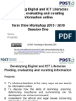 developing digital literacies- st patricks college thurles- 5th april