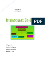 BIOLOGIA INTERACCIONES BIOLOGICAS