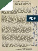 1980 - Sobre o Medo de Escrever a História Da Geografia