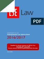 LLB Options Book 16-17 LSE