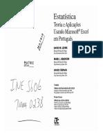 Estatística - Teoria e Aplicações Usando Microsoft Excel Em Português