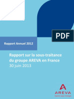 Rapport 2012 Sous Traitance