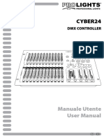 PROLIGHT CONTROLLER CYBER24 manuale
