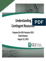 Understanding Contingent Resources