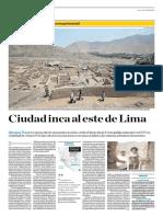Cuidad Inca Al Este de Lima