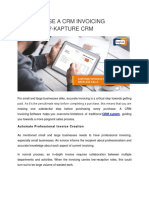 Why Choose a CRM invoicing Software? - Kapture CRM