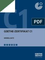 C1_Modellsatz Goethe Institut C1 Prüfung Mit Lösungen